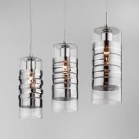 Подвесной светильник со стеклянным плафоном 50185/3 Хром