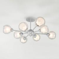 Классическая люстра со стеклянными плафонами 30163/8 Серебро матовое