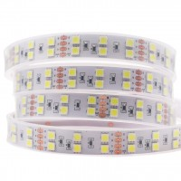 Светодиодная двухрядная лента QF Premium 5050 120 LED/м 28 Вт/м 24В  (5050-120-24V) IP68 (в прямоугольной ПВХ трубке залитая силиконом), 5м