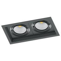 Светодиодный карданный светильник  Feron AL202 2x20W 4000K 35 градусов , (41292) Черный