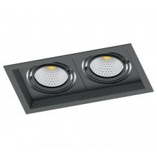 Светодиодный карданный светильник  Feron AL202 2x12W 4000K 35 градусов , (41291) Черный