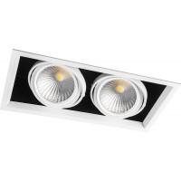 Светодиодный карданный светильник  Feron AL212 2x30W 4000K 35 градусов , (29780) Белый