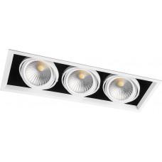 Светодиодный карданный светильник  Feron AL213 3x30W 4000K 35 градусов , (29781) Белый