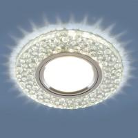 Встраиваемый точечный светильник с LED подсветкой 2224 MR16 CL прозрачный