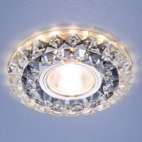 Встраиваемый потолочный светильник со светодиодной подсветкой (2170 MR16 SBK CL) дымчатый прозрачный