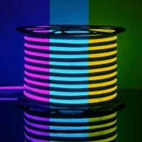 Гибкий неон LS001 220V 9.6W 120Led 2835 IP67 односторонний RGB, (50 метров)