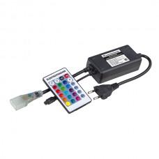 Контроллер для гибкого неона RGB LS001 220V 5050 с ПДУ (ИК) IP20 (LSC 011)