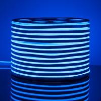 Гибкий неон LS001 220V 9.6W 120Led 2835 IP67 односторонний синий, (50 метров)