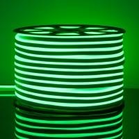 Гибкий неон LS001 220V 9.6W 120Led 2835 IP67 односторонний зеленый, (50 метров)