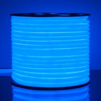 Гибкий неон LS003 220V 9.6W 144Led 2835 IP67 16mm, круглый синий  (50 метров)