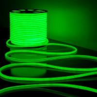 Гибкий неон LS003 220V 9.6W 144Led 2835 IP67 16mm, круглый зеленый (50 метров)