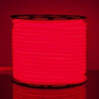 Гибкий неон LS003 220V 9.6W 144Led 2835 IP67 16mm, круглый красный (50 метров)