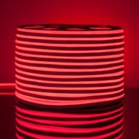 Гибкий неон LS001 220V 9.6W 120Led 2835 IP67 односторонний красный, (50 метров)