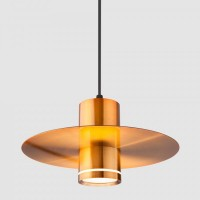 Накладной потолочный светодиодный светильник  50155/1 LED бронза