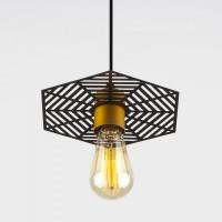 Накладной потолочный светодиодный светильник  50167/1 бронза/черный