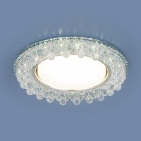 Встраиваемый потолочный светильник со светодиодной подсветкой 3025 GX53 CL прозрачный