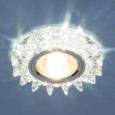 Точечный светодиодный светильник с хрусталем Elektrostandard 6037 MR16  SL зеркальный/серебро
