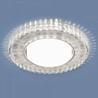 Точечный светильник с LED подсветкой 3035 GX53 SL/WH зеркальный/белый