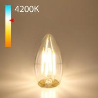 Светодиодная лампа свеча BLE2706 9W 4200K E27 (CW35 прозрачный)