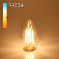 Светодиодная лампа свеча BLE2733 9W 3300K E27 (CW35 прозрачный)