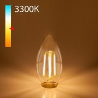 Светодиодная лампа свеча BLE1409 9W 3300K E14 (CW35 прозрачный)
