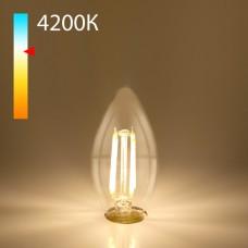 Светодиодная лампа свеча BLE1426 9W 4200K E14 (CW35 прозрачный)