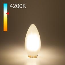 Светодиодная лампа свеча BLE1427 9W 4200K E14 (CW35 белый матовый)