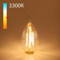 Светодиодная лампа свеча на ветру  BLE1428 9W 3300K E14 (CW35 прозрачный)