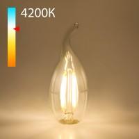 Светодиодная лампа свеча на ветру  BLE1429 9W 4200K E14 (CW35 прозрачный)