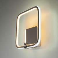 Светодиодный настенный светильник 90067/1 хром (24w)