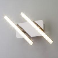 Светодиодный настенный светильник с хрусталем 90041/2 хром (8W)
