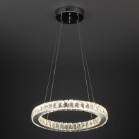 Светильник подвесной с хрусталем и пультом 90023/1 хром (18W)