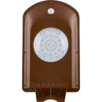Светодиодный уличный фонарь консольный на солнечной батарее Feron SP2331 2W 6400K IP65, с датчиком движения, серый 32025