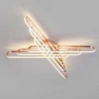 Потолочный светодиодный светильник с пультом управления 90133/6 розовое золото 156W