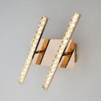 Светодиодный настенный светильник с хрусталем 90041/2 золото (8W)