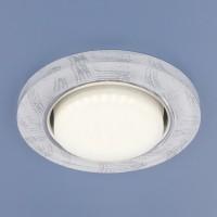 Встраиваемый точечный светильник Elektrostandard 1062 GX53 WH/SL белый/серебро