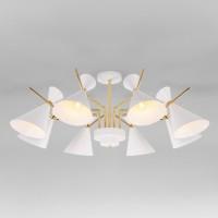 Потолочная люстра с поворотными рожками в стиле лофт 70114/8 белый
