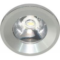 Светильник встраиваемый светодиодный, для подсветки мебели Feron G770 встраиваемый 1W 6400K Хром (27667)