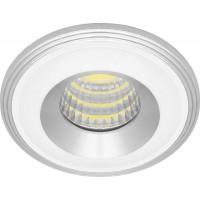 Светильник встраиваемый светодиодный, для подсветки мебели Feron LN003 встраиваемый 3W 4000K Хром/белый (28776)
