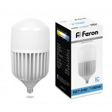 Лампа светодиодная FERON LB-65, T160 (промышленная), 100W 230V E27-E40 6400К (25827)