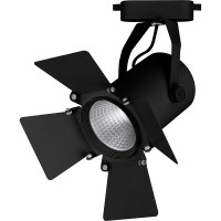 Трековый светодиодный светильник для однофазного шинопровода Feron AL110 20W 4000K 35 градусов (32557) Черный