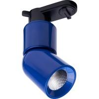 Трековый светодиодный светильник для однофазного шинопровода Feron AL114 10W 4000K 35 градусов (41011) Голубой