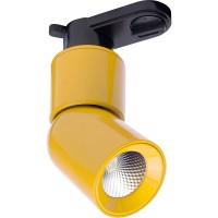 Трековый светодиодный светильник для однофазного шинопровода Feron AL114 10W 4000K 35 градусов (41010) Желтый