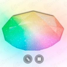 Управляемый светодиодный светильник ALMAZ 25W RGB R-345-SHINY/WHITE-220-IP44 /2019