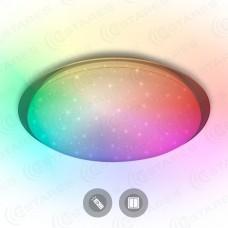 Управляемый светодиодный светильник SATURN 25W RGB R-328-SHINY/WHITE-220-IP44 /2019